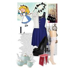 """""""Alice in Wonderland Modern"""" by leticia-otto on Polyvore"""