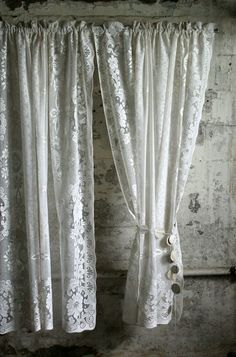 Hey, I found this really awesome Etsy listing at https://www.etsy.com/listing/192474475/vintage-pair-of-pale-cream-lace-curtains