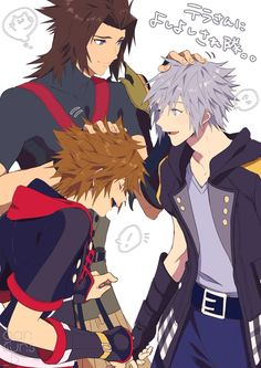 Sora, Riku and Terra Terra Kingdom Hearts, Kingdom Hearts Characters, Kingdom 3, Kingdom Hearts Fanart, Kh 3, Kindom Hearts, Demon Slayer, Final Fantasy, Animals