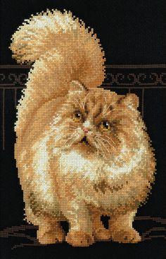 Persian Cat Cross Stitch Kit £20.50 | Past Impressions | Riolis