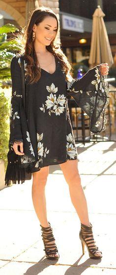 Bell Sleeve Dress Boho Style by Hapa Time