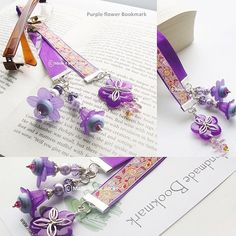 Hey, I found this really awesome Etsy listing at https://www.etsy.com/listing/182644734/spring-flower-purple-ribbon-bookmark