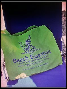 Our new eco friendly beach bag. Get yours at Beach Essentials in Duck!