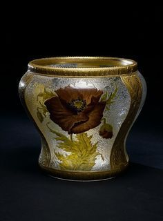 Look for opalescent glaze. Can it be combined with other glazes? Jules Barbe Vase, English, ca. Art Deco Glass, Glass Ceramic, English, Stoneware, Art Nouveau, Candle Holders, Auction, Pottery, Ceramics