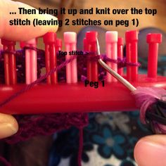 The Easiest Dewdrop Stitch Variations for Loom Knitters Loom Knitting Blanket, Loom Knitting Stitches, Loom Knitting Projects, Afghan Loom, Spool Knitting, Knifty Knitter, Knitting Tutorials, Yarn Projects, Free Knitting