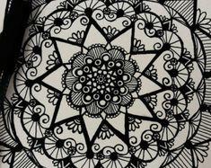 Mandala ink drawing by ArtbyAlyssia on Etsy