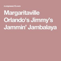 Margaritaville Orlando's Jimmy's Jammin' Jambalaya