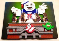 3D Perler Bead Ghostbusters by #Kyle_McCoy pixelartshop.com