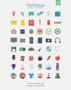 Flatilicious - 48 Free Flat Icons  #free #freebie #flat #icon #icons #flatdesign #design #webdesign #psd #photoshop