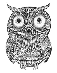 """""""Ornate Baby Owl"""" by Squidoodle 
