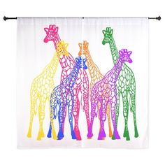 Colorful Giraffes Curtains on CafePress.com