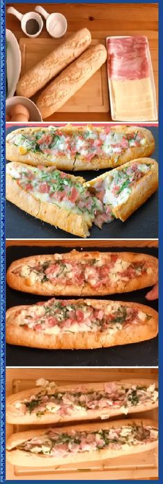 Ideas for pasta faciles y rapidas I Love Food, Good Food, Yummy Food, Tasty, Snacks, Snack Recipes, Cooking Recipes, Baguette Relleno, Deli Food