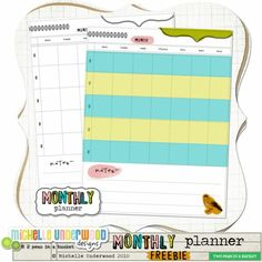Monthly Planner and Meal Planner