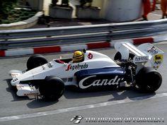 1984 Formula 1 Monaco Grand Prix - Ayrton Senna. Practice day