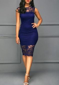 Cute fashion outfits ideas – Fashion, Home decorating Sexy Dresses, Cute Dresses, Beautiful Dresses, Dress Outfits, Fashion Dresses, Crochet Bodycon Dresses, Red Sleeveless Dress, Navy Blue Midi Dress, Vestidos Color Vino