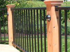 wood and metal ornamental fences - Google Search More