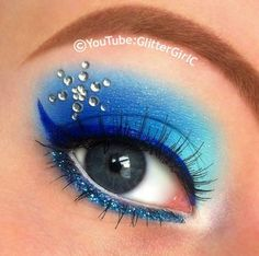 This look is inspired by Queen Elsa from the Disney movie Frozen. . Free tutorial with pictures on how to create a blue eye makeup look in under 180 minutes by applying makeup with primer, make up, and eyeshadow. Inspired by disney. How To posted by Cecilie O. in the Beauty section Difficulty: Easy. Cost: 3/5. Steps: 1