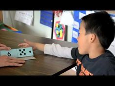 Great video showing how to practice subitizing with kids. Notice how quickly she flashes the card and how she has the child explain how he saw the number. This is a great whole class daily routine using larger cards.