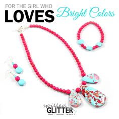 For the Girl who Loves Bright Colors! #HolidayShopping #Jewelry #Gifts #Necklace #ImperialJasper http://ht.ly/ZFtI306a5bZ