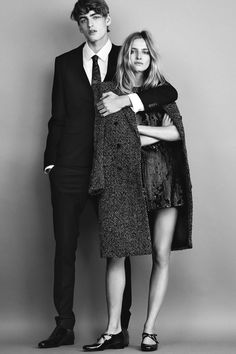 "Amanda Norgaard & Erik Fallberg in ""Midnight Mingle"" for Elle Sweden, December 2014   Photographed by: Jimmy Backius"