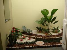 Decoração para jardim de inverno pequeno