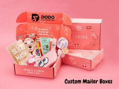 Deliver your customer's e-commerce orders, subscription boxes, and promotional kits in high-quality custom mailer boxes. Made of durable corrugated cardboard, every order is protected as it ships to your customer. We provide best quality custom mailer boxes in wholesale rates. #CustomMailerBoxesWholesale #CustomretailPackaging #COVID19 #Dodopackaging #Productpackaging #BestSolution #CustomSubscriptionBoxes #CustomRetailPackaging Japanese Subscription Box, Kawaii Subscription Box, Custom Mailer Boxes, Custom Boxes, Cosmetics Plus, Beauty Box Subscriptions, Best Skincare Products, Beauty Consultant, Japanese Beauty