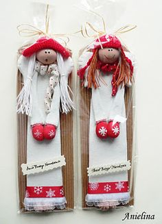 Gallery.ru / Фото #60 - Примитивы от Anielina - Inna-Mina Christmas Angels, Christmas Crafts, Xmas, Christmas Ornaments, Hobbies And Crafts, Diy And Crafts, Homemade Clay Recipe, Salt Dough Ornaments, Ceramic Angels