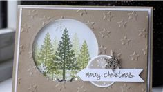 Festival of Tree's Christmas shaker card using Stampin' Up supplies