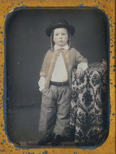 Magnificent 1/4 plate daguerreotype of a well dressed boy (via Dennis A. Waters Fine Daguerreotypes)