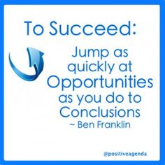 #Opportunity #Success #BenFranklin #Quote