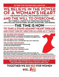 February is Women's Heart Health Month! #GORED