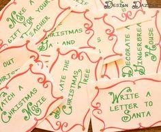 Advent Countdown Calendar including 100 Activites/ideas: FREE printables