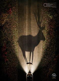 Opel - The Shadows /  Creative Directors: Jorge Carreno, Robin de Lestrade / AD& Copywriter: Eric Esculier / Account Managers: Clément Chovin, Christophe de Jandin, Muriel Mallet / Illustrator: Patrick Gernigon