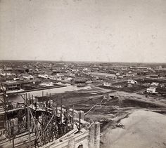 Sacramento City from the new Capitol Building, Looking East.  Lawrence & Houseworth, publisher  1860/1870  Contributing Institution:  Society of California Pioneers