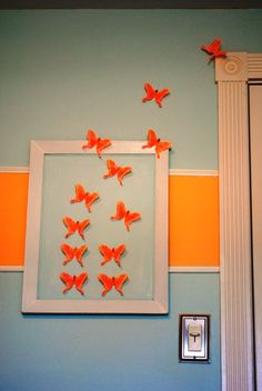 Top 10 Best DIY Wall Decor (love the butterflies flying out of the picture - SC)