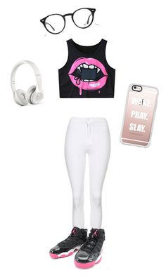 """""""Untitled #84"""" by daijah-on-point ❤ liked on Polyvore featuring Topshop, Casetify, Ray-Ban and Beats by Dr. Dre"""