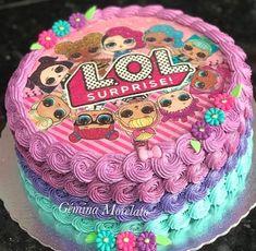Little Girl Birthday Cakes, Doll Birthday Cake, Funny Birthday Cakes, Pink Birthday Cakes, Happy Birthday Girls, 7th Birthday Party Ideas, 5th Birthday, Lol Doll Cake, Pony Cake