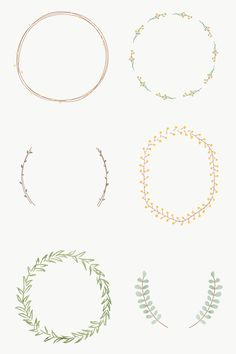 Black Wreath, Green Wreath, Wreath Drawing, Free Hand Drawing, Pastel Background, Christmas Frames, Pastel Floral, Free Image, Stamps
