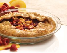 Check out this Gluten-free Raspberry Peach Galette. finds sorghum flour works best in a gluten-free pie crust recipe for both taste and ease in rolling. Anna Olson, Gluten Free Pie Crust, Pie Crust Recipes, Yummy Treats, Sweet Treats, Yummy Food, Gluten Free Cookies, Gluten Free Recipes, Raspberry Recipes