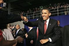 The president loves coming to Elkhart, a place that's undergone a major revival. So why doesn't Elkhart love him back? Elkhart Indiana, Fist Pump, Talking Points, Nobel Peace Prize, Obama, Presidents, Politics, City, Celebrities
