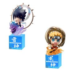 Naruto Shippuuden - Uchiha Sasuke - Susano-o - Petit Chara Land - Petit Chara Land NARUTO Shippuden: Fuujin Naruto Uzumaki & Raijin Sasuke Uchiha Set (MegaHouse)