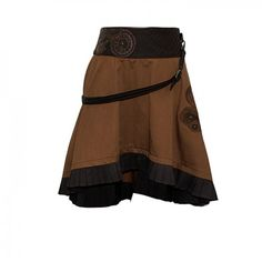 Brown Steampunk Skirt Buckle Accessory