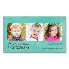 Vintage Teal Portrait Photographer Business Card. This is a fully customizable business card and available on several paper types for your needs. You can upload your own image or use the image as is. Just click this template to get started!