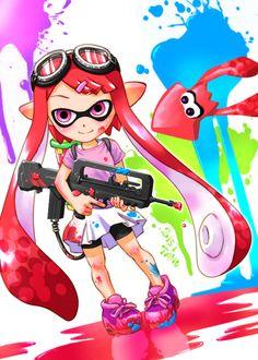 「任天堂のイカちゃん」/「狸野」のイラスト [pixiv] #Inkling #squid