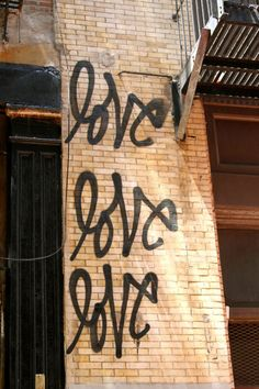 #77 very popular style + color + content. Black positive message, brick wall