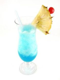 Blue Hawaiian frozen mixed drink