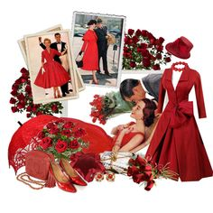 red roses by sagramora on Polyvore