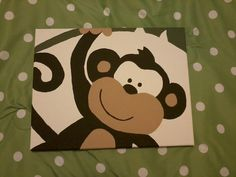 Monkey painting for a friends baby