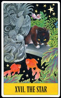 Kipling West Cat Tarot Deck - The Star