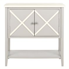 Safavieh Polly Poplar Wood Sideboard in Grey and White - AMH6599A